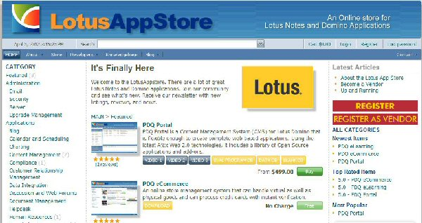 Image:LotusAppStore launches to sell Lotus apps